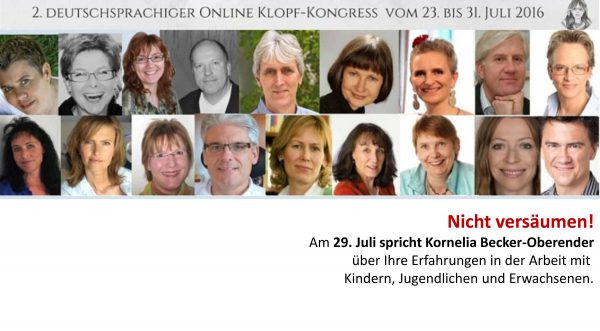2. deutschsprachiger Online-Klopf-Kongress vom 23.-31. Juli 2016